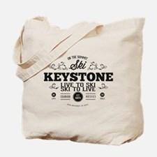 Keystone Old Ivy Black Tote Bag