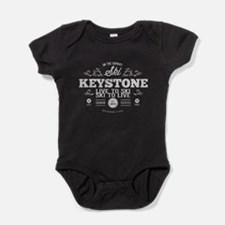 Keystone Old Ivy Black Baby Bodysuit