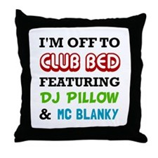 Club Bed Throw Pillow