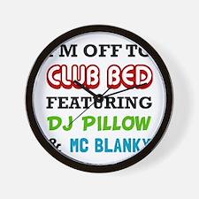 Club Bed Wall Clock