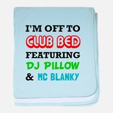 Club Bed baby blanket