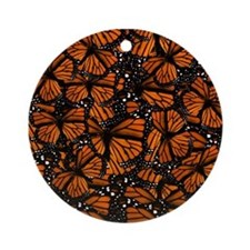 Countless Monarch Butterflies Ornament (Round)