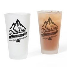 Telluride Mountain Vintage Drinking Glass
