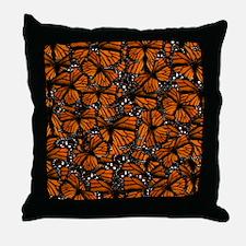 Countless Monarch Butterflies Throw Pillow