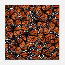 Countless Monarch Butterflies Tile Coaster