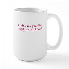 Guardian angel crackhead - pink text Mugs
