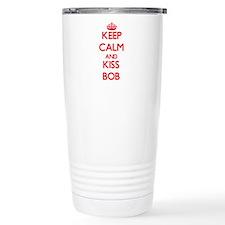 Keep Calm and Kiss Bob Travel Mug