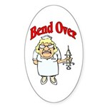 Favorite Nurse Design Oval Sticker