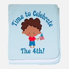 4th of July Boy baby blanket