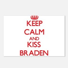 Keep Calm and Kiss Braden Postcards (Package of 8)