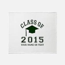 Class Of 2015 Graduation Throw Blanket