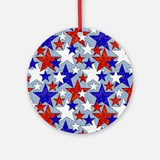 American Star Ornament (Round)