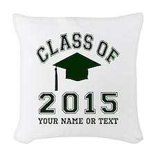 Class Of 2015 Graduation Woven Throw Pillow