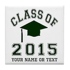 Class Of 2015 Graduation Tile Coaster