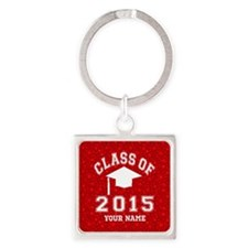 Class Of 2015 Square Keychain