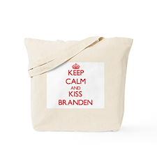 Keep Calm and Kiss Branden Tote Bag