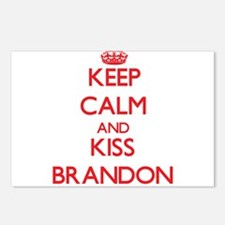 Keep Calm and Kiss Brandon Postcards (Package of 8