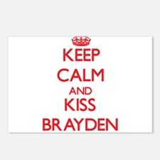Keep Calm and Kiss Brayden Postcards (Package of 8