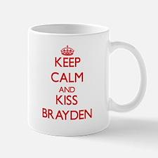 Keep Calm and Kiss Brayden Mugs