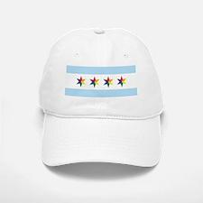 Chicago Pride Flag Baseball Baseball Cap