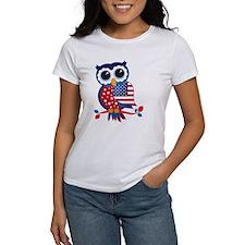American Flag Owl T-Shirt