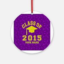 Class Of 2015 Graduation Ornament (Round)