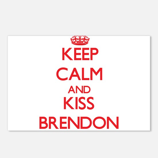 Keep Calm and Kiss Brendon Postcards (Package of 8