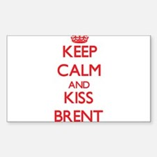 Keep Calm and Kiss Brent Decal