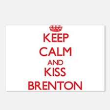 Keep Calm and Kiss Brenton Postcards (Package of 8
