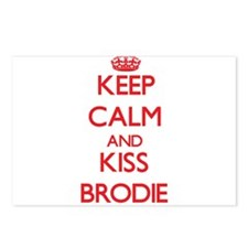 Keep Calm and Kiss Brodie Postcards (Package of 8)