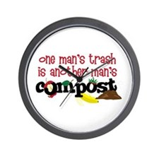 One mans trash is another mans Compost Wall Clock