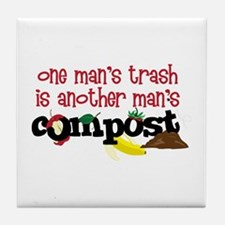 One mans trash is another mans Compost Tile Coaste