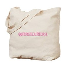 Fancy Lettering Quinceanera Tote Bag