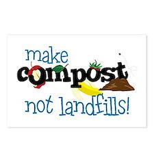make compost not landfills ! Postcards (Package of