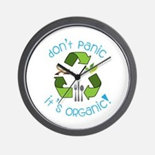 Dont panic its ORGANIC! Wall Clock