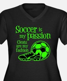 CLEATS Women's Plus Size V-Neck Dark T-Shirt
