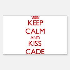 Keep Calm and Kiss Cade Decal