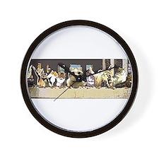 Cat Last Supper Wall Clock