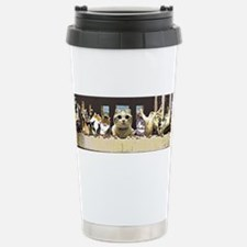 Cat Last Supper Travel Mug