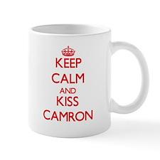 Keep Calm and Kiss Camron Mugs