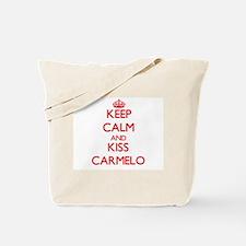 Keep Calm and Kiss Carmelo Tote Bag