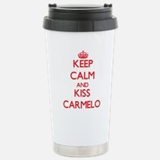 Keep Calm and Kiss Carmelo Travel Mug