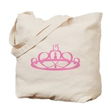 Quinceanera 15 Crown Tote Bag