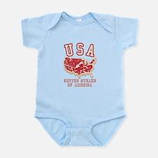 United Steaks of America Infant Bodysuit