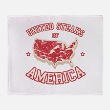United Steaks of America Throw Blanket