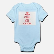 Keep Calm and Kiss Cason Body Suit