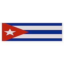 """""""Cuba Flag"""" Bumper Bumper Sticker"""