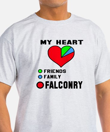 My Heart Friends, Family and Falconr T-Shirt