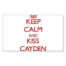 Keep Calm and Kiss Cayden Decal