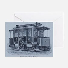 Vintage Trolley Greeting Cards
